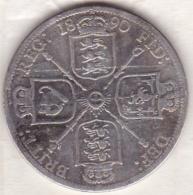 Grande Bretagne. One Florin 1890. Victoria ,en Argent - 1816-1901 : Frappes XIX° S.