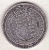 Grande Bretagne. 1 Shilling 1887. Victoria ,en Argent - 1816-1901 : Frappes XIX° S.