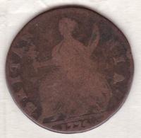 Grande Bretagne. ½  Penny 1775, George III - 1662-1816 : Anciennes Frappes Fin XVII° - Début XIX° S.