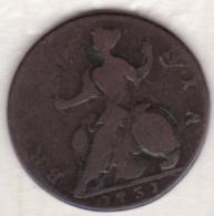 Grande Bretagne. ½  Penny 1731, George II - 1662-1816 : Anciennes Frappes Fin XVII° - Début XIX° S.