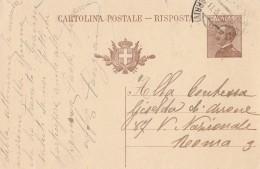 CARTOLINA POSTALE RISPOSTA 1928 CENT. 30 (S465 - 1900-44 Vittorio Emanuele III