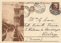 CARTOLINA POSTALE 1935 VENEZIA ANGOLO DELLA SCUOLA DI S.MARCO CENT.30 (S113 - 1900-44 Vittorio Emanuele III