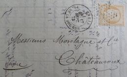 LOT VL4355/4 - CERES (SIEGE) N°38b (LAC) PARIS (Seine) ETOILE 1 > CHÂTEAUROUX Par AMB De Nuit PARIS PERIGUEUX - 1870 Siege Of Paris