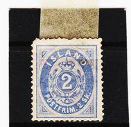 MAG1177  ISLAND 1873  Michl 1  UNGEBRAUCHT (*) FALZ  DÜNNE STELLE Siehe ABBILDUNG - 1873-1918 Dänische Abhängigkeit