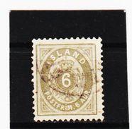 MAG1185  ISLAND 1876  Michl 7 B Used / Gestempelt Siehe ABBILDUNG - 1873-1918 Dänische Abhängigkeit