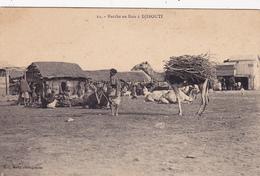 CPA DJIBOUTI Marché Aux Bois Noir Nègre Négritude - Djibouti