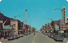 Laramie Wyoming, Street Scene, Business District, Autos, Shawver Drug Store Sign, 1960s Vintage Postcard - Laramie