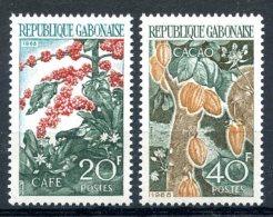 Gabon, 1968, Cacao, Coffe, Agriculture, MNH, Michel 313-314 - Gabon (1960-...)