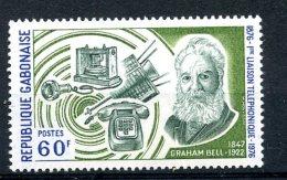 Gabon, 1976, Telephone Centenary, Graham Bell, MNH, Michel 582 - Gabón (1960-...)