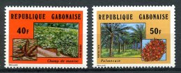 Gabon, 1974, Agriculture, Maniok, Palm Trees, MNH, Michel 543-544 - Gabon (1960-...)