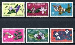Gabon, 1972, Indigenous Flowers, Plants, Blossoms, MNH, Michel 464-469 - Gabon (1960-...)