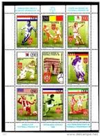 SERBIE   Feuillet  N° 89/96  * * ( Cote 14e )  Cup 1998 Fussball Soccer Football  Arc De Triomphe - World Cup