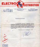 VP10.803 -  Electro Distribution Agences à PARIS - SAINT OUEN &  à VINCENNES - Certificat De Mr ALLO De NOISY LE SEC - Electricity & Gas