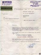 VP10.805 - Lettre - MORMACEM - CEM Cie Electro - Mécanique Mr CADOT à PARIS Rue Vaugirard - Electricity & Gas