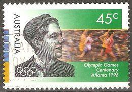 Australie - 1996 - Edwin Flack Et Coureur - YT 1534 Oblitéré - Summer 1996: Atlanta