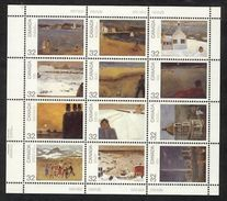CANADA, 1984, # 1027a, LL CANADA DAY, Paint Of J P Lemieux, MNH  12 Stamps - Blocs-feuillets