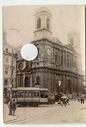 RARE Tramway électrique Tram Besançon Id Dos  DOUBS  Vers 1870 1880 ? Grande Rue ? - Lieux