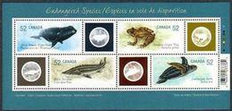 CANADA 2007  MNH # 2229 ENDANGERED SPECIES   Sheelet - Blocs-feuillets