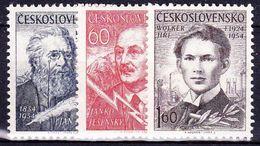 ** Tchécoslovaquie 1954 Mi 881-3 (Yv 782-4), (MNH) - Ungebraucht