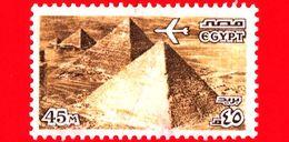EGITTO - Usato - 1978 - Piramidi Di Giza - UNESCO Patrimonio Mondiale Dell'Umanità - 45 P. Aerea - Posta Aerea