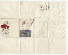 10397 01 HELVETIA SVIZZERA SUISSE SCHWEIZ Da SAN MAURIZIO - TIMBRO CHIAVENNA - ANNO 1862 - Brieven En Documenten