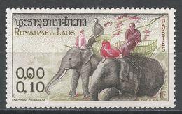 Laos 1958. Scott #41 (MH) Elephants - Laos