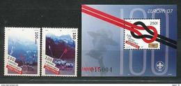 ALBANIEN Mi.Nr. 3145-3146, Block 164 Pfadfinder - 2007- MNH - 2007