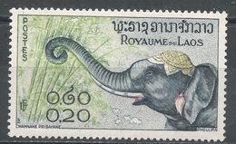 Laos 1958. Scott #42 (MH) Elephant - Laos