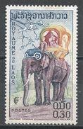 Laos 1958. Scott #43 (MH) Elephant - Laos