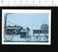 Image Bon-point / Locomotive à Vapeur De Stephenson (1821) Train Chemin De Fer  // IM 175/14 - Vieux Papiers