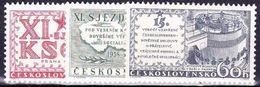 ** Tchécoslovaquie 1958 Mi 1075-7 (Yv 959-61), (MNH) - Unused Stamps