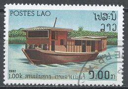 Laos 1982. Scott #395 (U) River Vessels, Houseboat, Bateau - Laos