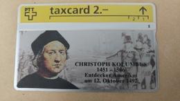 Switzerland-(k-93/34)-christoph Kolumus-(302l)-(2chf)-tirage-1.000-used Card+1card Prepiad Free - Suisse