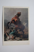 """HORSE IN ART  - Old Art  Postcard  - """"Wild Boar"""" By Khudyakov - 1973 - Horse Breeding Museum Collection - Chevaux"""