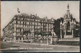 °°° 6929 - SVIZZERA - GE - GENEVE - HOTEL DE LA PAIX ET MONUMENT BRUNSWICK °°° - GE Ginevra