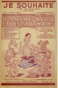 FILM PARTITION CAF CONC BLANCHE NEIGE ET LES SEPT NAINS JE SOUHAITE I'M WISHING 1938 DISNEY CHURCHILL MOREY GUITARE - Film Music