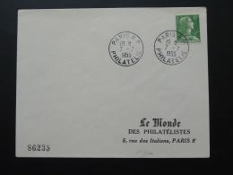 Lettre Marianne De Muller 1er Jour De Mise En Vente Paris RP Philatélie 1955 - 1955- Marianne Of Muller