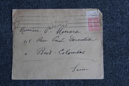 Enveloppe Timbrée De VINCENNES à BOIS COLOMBES ( Pub à La Toile D'Avion). - Lettres & Documents