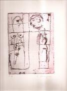 Lithographie De Jean Dessaigne 1939 - 2015 . Le Couple . Epreuve D' Artiste . - Lithographies