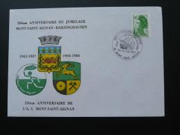 Lettre Cover Jumelage Mont Saint Aignan Barsinghausen 76 Seine Maritime 1987 - Marcophilie (Lettres)