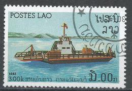 Laos 1982. Scott #397 (U) Ferry, Boat, Bateau - Laos
