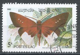 Laos 1982. Scott #390 (U) Butterfly, Papillon, Iton Semamora - Laos