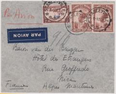 CONGO BELGE - Lettre De Stanleyville Par Avion Pour Nice Du 8/1/37 - Belgian Congo