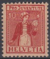 SUISSE -10 (+ 5) De 1917 Neuf - Pro Juventute
