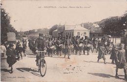 GRANVILLE - La Gare - Retour Des Manoeuvres - Musique Militaire ( Carte Animée ). - Granville