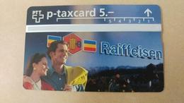 Switzerland-(kp-95/59a)-raiffeisen Bank-(521l)(5chf)-tirage-20.000-used Card+1card Prepiad Free - Suisse