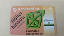 Switzerland-(kf-54c2)-schweizerische Hoher-volksbank-(507l)(10chf)-tirage-7.000-used Card+1card Prepiad Free - Suisse