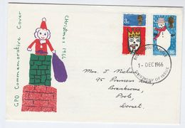 1966 Bournemouth  GB FDC CHRISTMAS Stamps Cover - FDC
