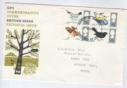 1966 Harrow GB FDC BIRDS Stamps Cover Bird - FDC