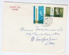 1965 GB FDC POST OFFICE TOWER Telecom Cds Pmk 'London 122' Cover Stamps - FDC